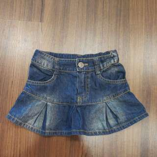 jeans skirt for toddler