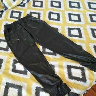 Black pvc pants