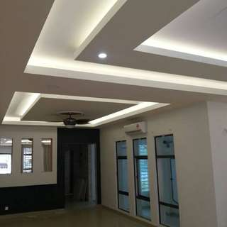 Affordable Minimalist Plaster Ceiling