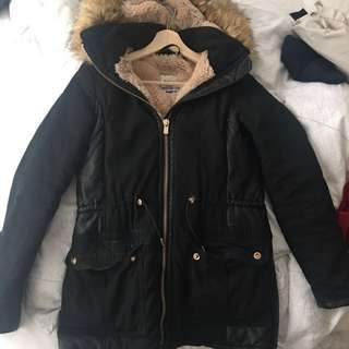 Cozy Trafaluc Jacket/Coat from Zara Size XS