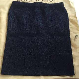 Mini skirt gliter blue