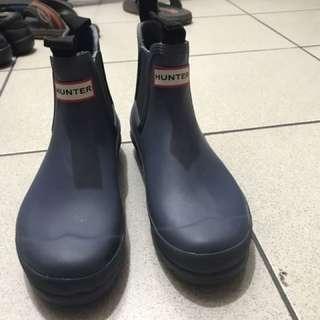 Hunter 雨鞋 短靴 霧面藍 uk5