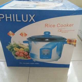 Rice cooker brand Philux capacity 1.8L