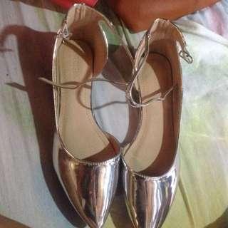 Parisian Silver Shoes