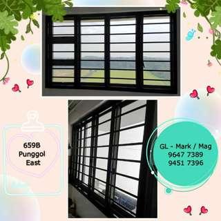 Aluminium Grilles & Window for BTO & HDB Flat