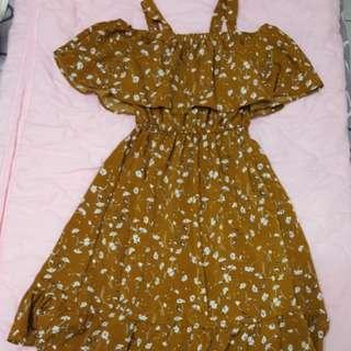 韓系小碎花洋裝