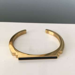 Amber Sceats Deco gold plated steel bangle