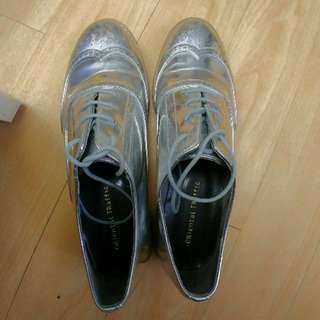 Oxford Silver Shoes Size L (約38-39號)