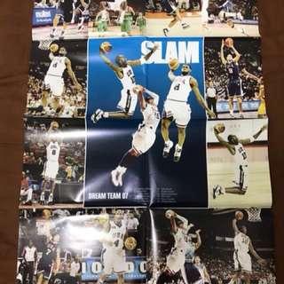 NBA 07美國夢幻隊 雜誌海報