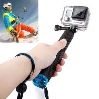 TMC Handheld Extendable Pole Monopod with Screw for GoPro Hero 5 / 4 / 3+ / 3 / 2, Max Length: 49cm(Blue)