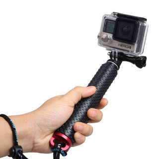 TMC Handheld Extendable Pole Monopod with Screw for GoPro Hero 5 / 4 / 3+ / 3 / 2, Max Length: 49cm (Red)