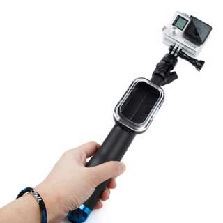 TMC Fold Retractable Handheld Remote Pole Monopod with Screw for GoPro Hero 5 / 4 / 3+ / 3, Max Length: 70cm.