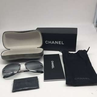 Chanel Rimless grey Sunnies 2017 [Brand New In Box] COMPLETE SET