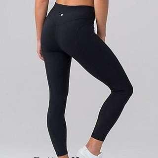 Lululemon yoga black colour pants 8-9分 super comfortable