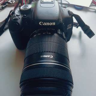 Canon 600d with 18 135mm lens