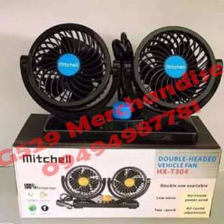Mitchell Double-Headed Vehicle Mini Fan
