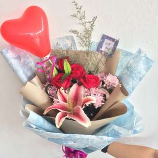 Bunga/chocolate flowers bouquet