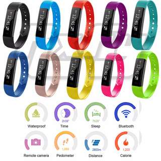 Fitness Tracker Smart Band Bracelet Smartwatch ID115 Bluetooth Call Remind Remote Self-Timer Smart Watch Activity Tracker Calorie Counter Wireless Pedometer Sport Band Sleep Monitor For Android iOS Phone