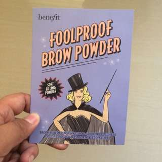 Benefit Foolproof Brow Powder Sample