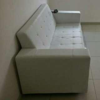 3-seat sofa, white