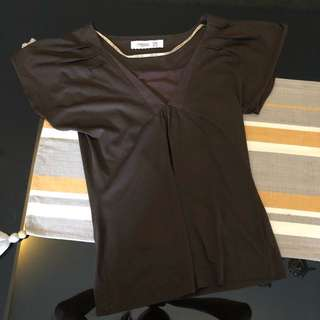 ZARA Brown Chic Top