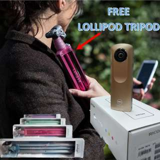 Ricoh M15 Gold Edition (Free colored Lollipod Tripod while stock last) $269.00 only