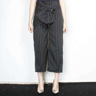 Black Stripes Pants
