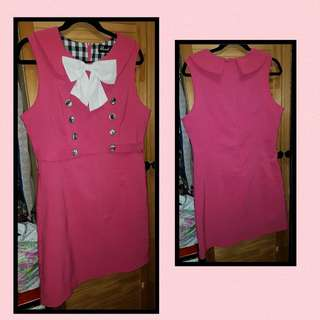 Revival Pink Bow Dress Sz 14