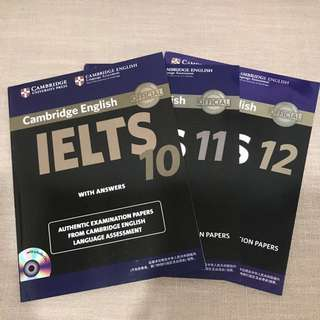 IELTS Book 10/11/12 with DVD
