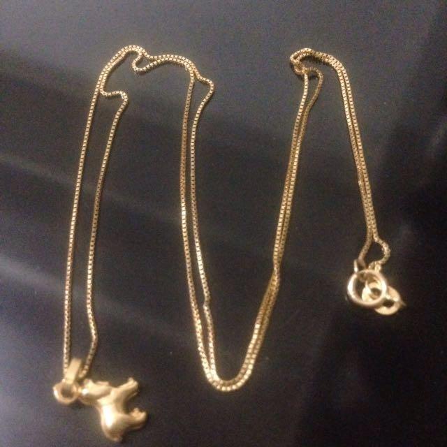 18k saudi gold necklace 18 inch