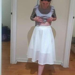 White Mid-length Skirt