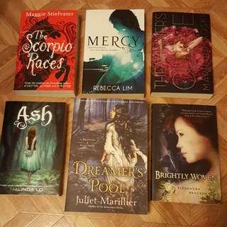 Various Fantasy YA Books