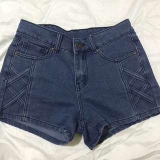 Mango denim blue shorts