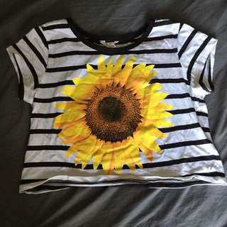 sunflower cropped tee