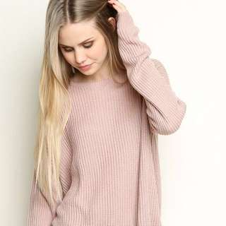 brandy melville blush ollie sweater