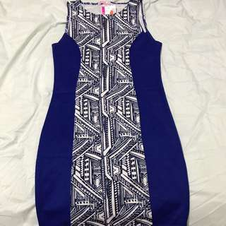Supre Aztec Print Blue dress