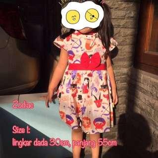 new 😍 Dress Katun Lucu Anak 1-3 Tahun