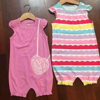 Baby Girl Bodysuits (set of 2)