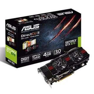 ASUS GTX 670 4GB DirectCU II