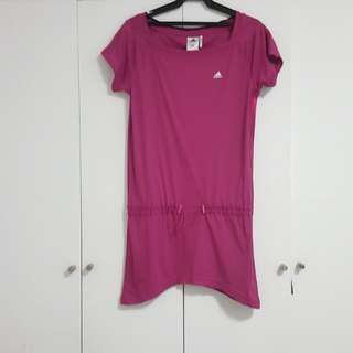 ADIDAS CLIMALITE LONG TOP WITH ADJUSTABLE HIP CORD. HAS 3 METALLIC STRIPES ON EITHER SIDE . SIZE SMALL. CAN FIT MEDIUM