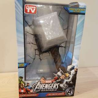 Marvel Avengers Thor Hammer 3D Room Wall Night Light (Wall Lamp)