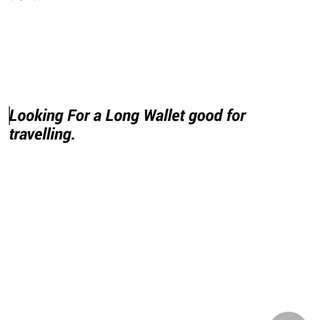 Looking For Long Wallet