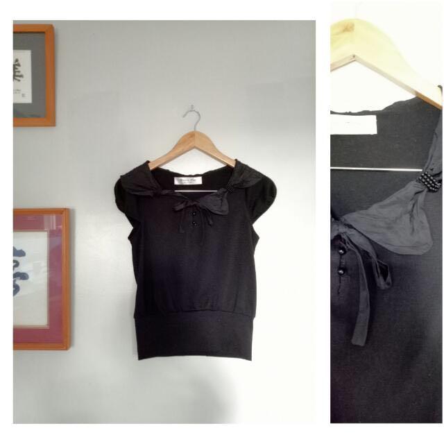 ❗️20% OFF Cute Black Top