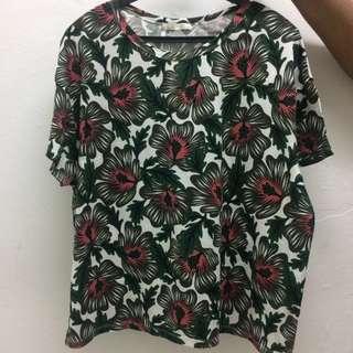 Zara Printed Top (size L)