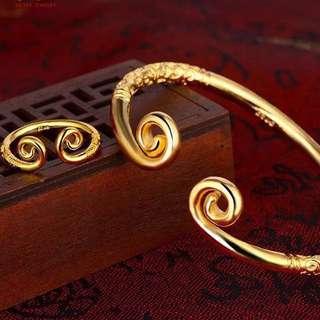 Wu Kong couple bracelet & ring