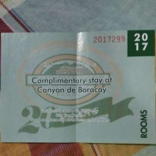 Gift Certificate of Accommodation at Canyon de Boracay (Station II)