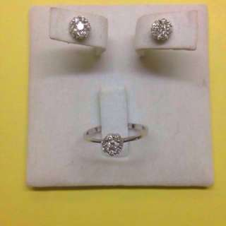 Diamond Illusion Earrings And Ring