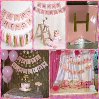 Happy Birthday Buntings Pennant Party Supplies