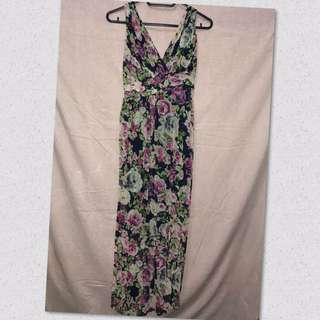 Maxi Dress floral (S-M)