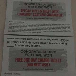 Legoland 1day combo ticket
